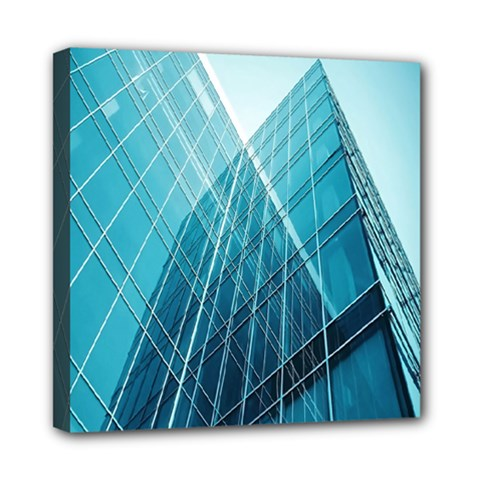 Glass Bulding Mini Canvas 8  X 8