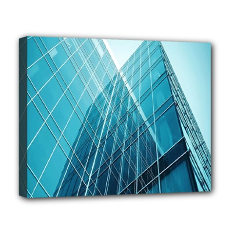 Glass Bulding Deluxe Canvas 20  X 16   by BangZart