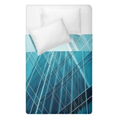Glass Bulding Duvet Cover Double Side (single Size) by BangZart
