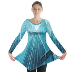 Glass Bulding Long Sleeve Tunic  by BangZart