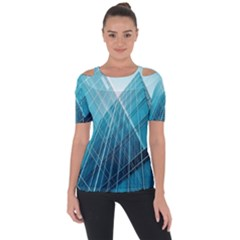 Glass Bulding Short Sleeve Top by BangZart