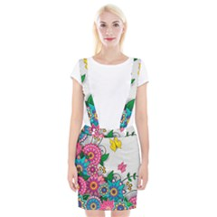 Flowers Pattern Vector Art Braces Suspender Skirt