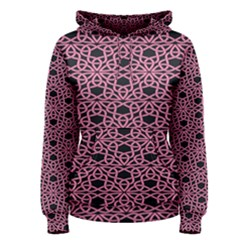 Triangle Knot Pink And Black Fabric Women s Pullover Hoodie