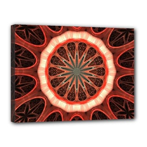Circle Pattern Canvas 16  X 12