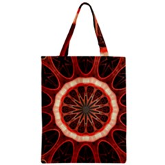 Circle Pattern Zipper Classic Tote Bag by BangZart