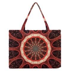 Circle Pattern Medium Zipper Tote Bag