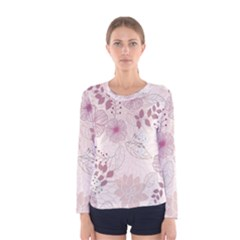 Leaves Pattern Women s Long Sleeve Tee
