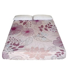 Leaves Pattern Fitted Sheet (california King Size) by BangZart