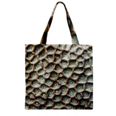 Ocean Pattern Zipper Grocery Tote Bag