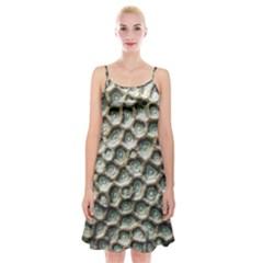 Ocean Pattern Spaghetti Strap Velvet Dress
