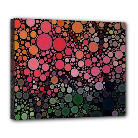 Circle Abstract Deluxe Canvas 24  X 20   by BangZart