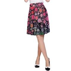 Circle Abstract A Line Skirt by BangZart
