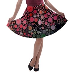 Circle Abstract A Line Skater Skirt