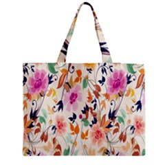 Vector Floral Art Medium Tote Bag