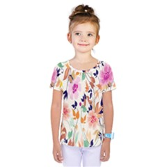 Vector Floral Art Kids  One Piece Tee