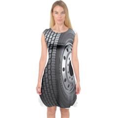 Tire Capsleeve Midi Dress