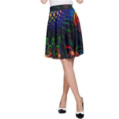 Colored Fractal A Line Skirt by BangZart