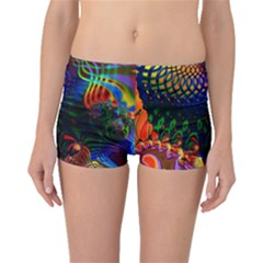 Colored Fractal Boyleg Bikini Bottoms