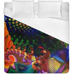 Colored Fractal Duvet Cover (king Size)