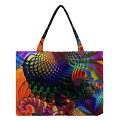 Colored Fractal Medium Tote Bag