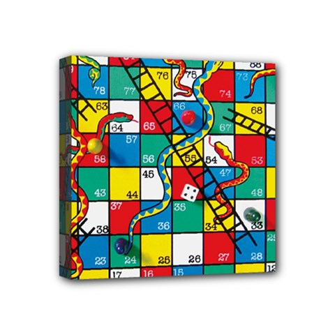 Snakes And Ladders Mini Canvas 4  X 4