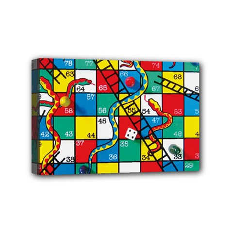 Snakes And Ladders Mini Canvas 6  X 4