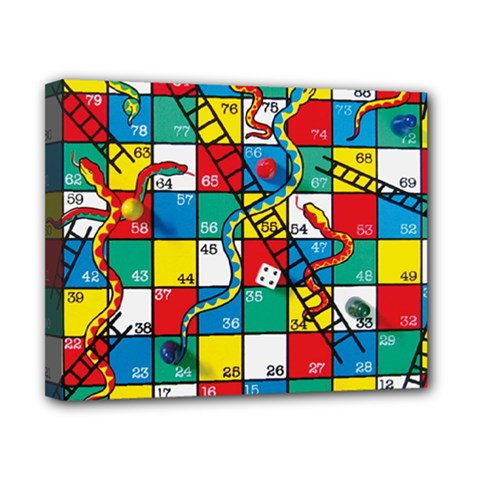 Snakes And Ladders Canvas 10  X 8