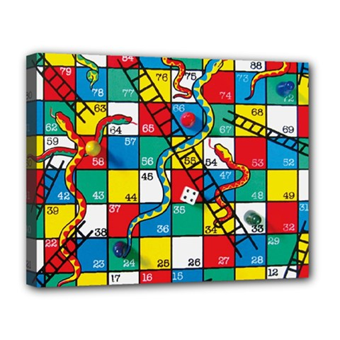 Snakes And Ladders Canvas 14  X 11