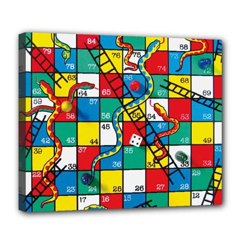 Snakes And Ladders Deluxe Canvas 24  X 20