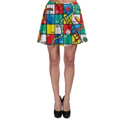 Snakes And Ladders Skater Skirt