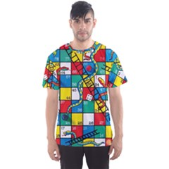 Snakes And Ladders Men s Sports Mesh Tee by BangZart
