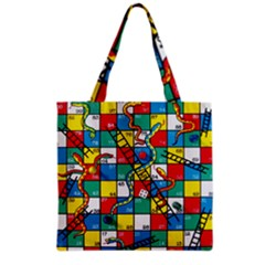 Snakes And Ladders Grocery Tote Bag