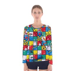 Snakes And Ladders Women s Long Sleeve Tee by BangZart