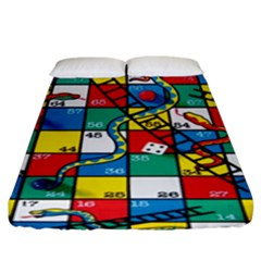 Snakes And Ladders Fitted Sheet (king Size)