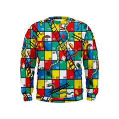 Snakes And Ladders Kids  Sweatshirt