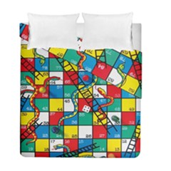 Snakes And Ladders Duvet Cover Double Side (full/ Double Size)