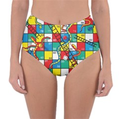 Snakes And Ladders Reversible High Waist Bikini Bottoms
