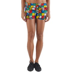 Snakes And Ladders Yoga Shorts