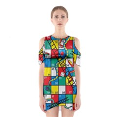 Snakes And Ladders Shoulder Cutout One Piece
