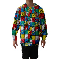Snakes And Ladders Hooded Wind Breaker (kids)