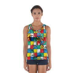 Snakes And Ladders Sport Tank Top