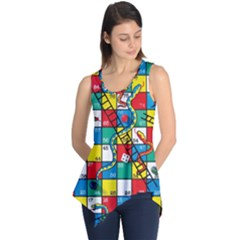 Snakes And Ladders Sleeveless Tunic
