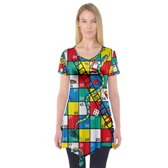 Snakes And Ladders Short Sleeve Tunic