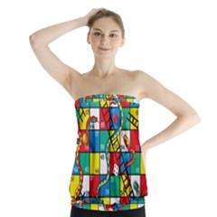 Snakes And Ladders Strapless Top