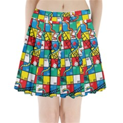 Snakes And Ladders Pleated Mini Skirt