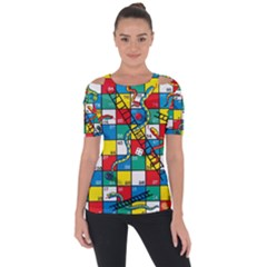 Snakes And Ladders Short Sleeve Top