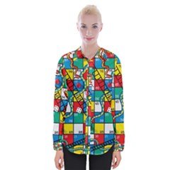 Snakes And Ladders Womens Long Sleeve Shirt by BangZart
