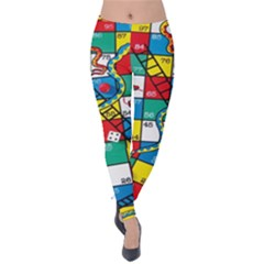 Snakes And Ladders Velvet Leggings
