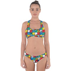 Snakes And Ladders Cross Back Hipster Bikini Set