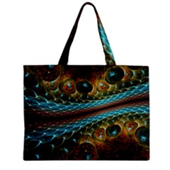 Fractal Snake Skin Zipper Mini Tote Bag by BangZart